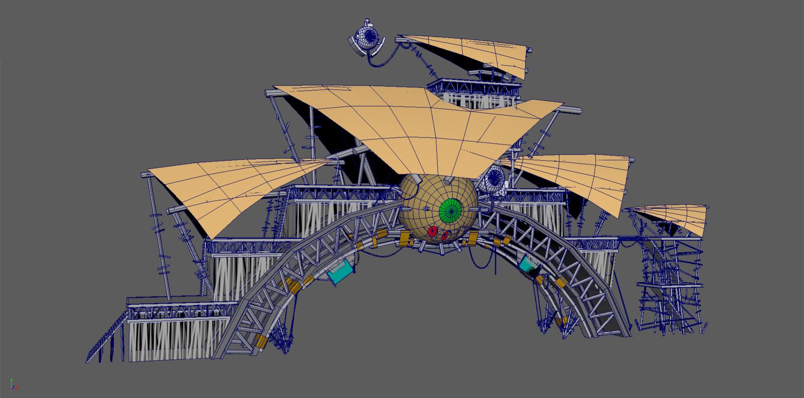 Wireframe 3D model of Race Start/finish point
