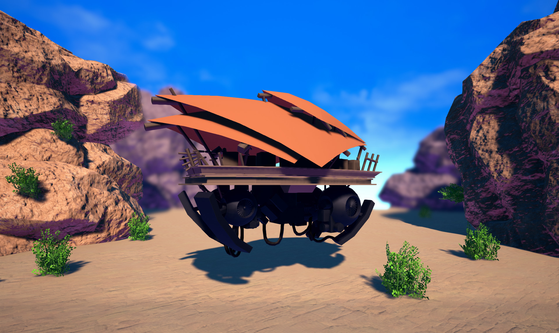 Ingame Render of hovering cargo-vehicle