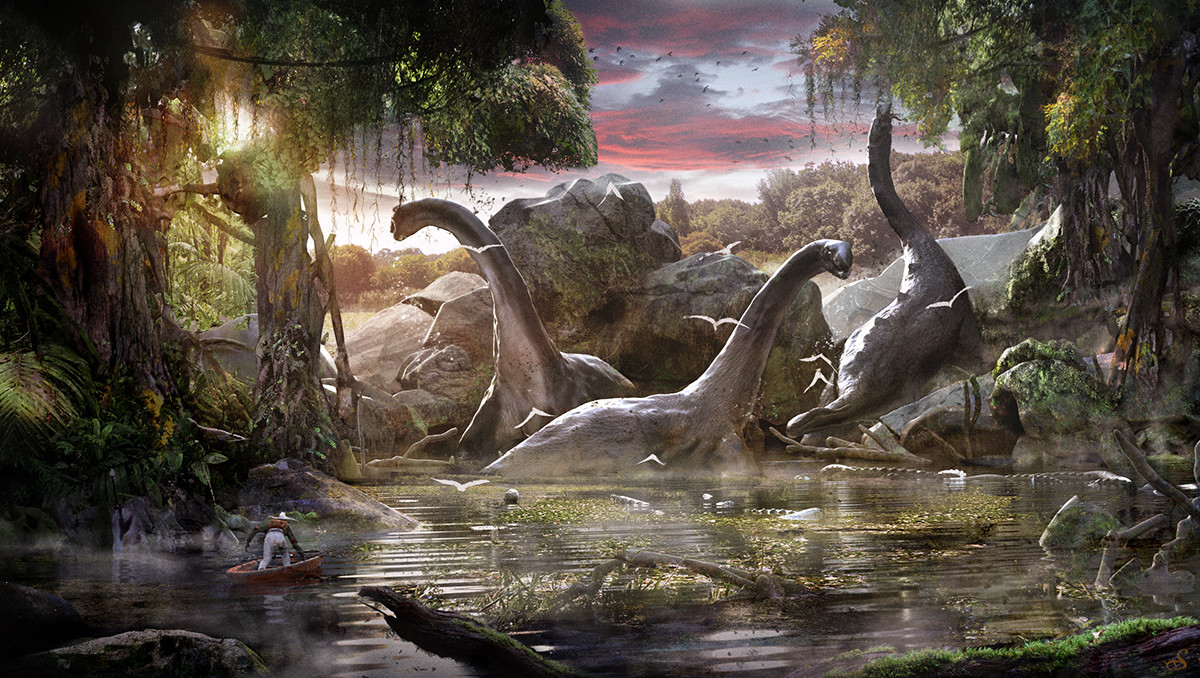 Sebastien ecosse mokele mbembe close encounter cryptozoology dinosaurs illustration sebastien ecosse illustration