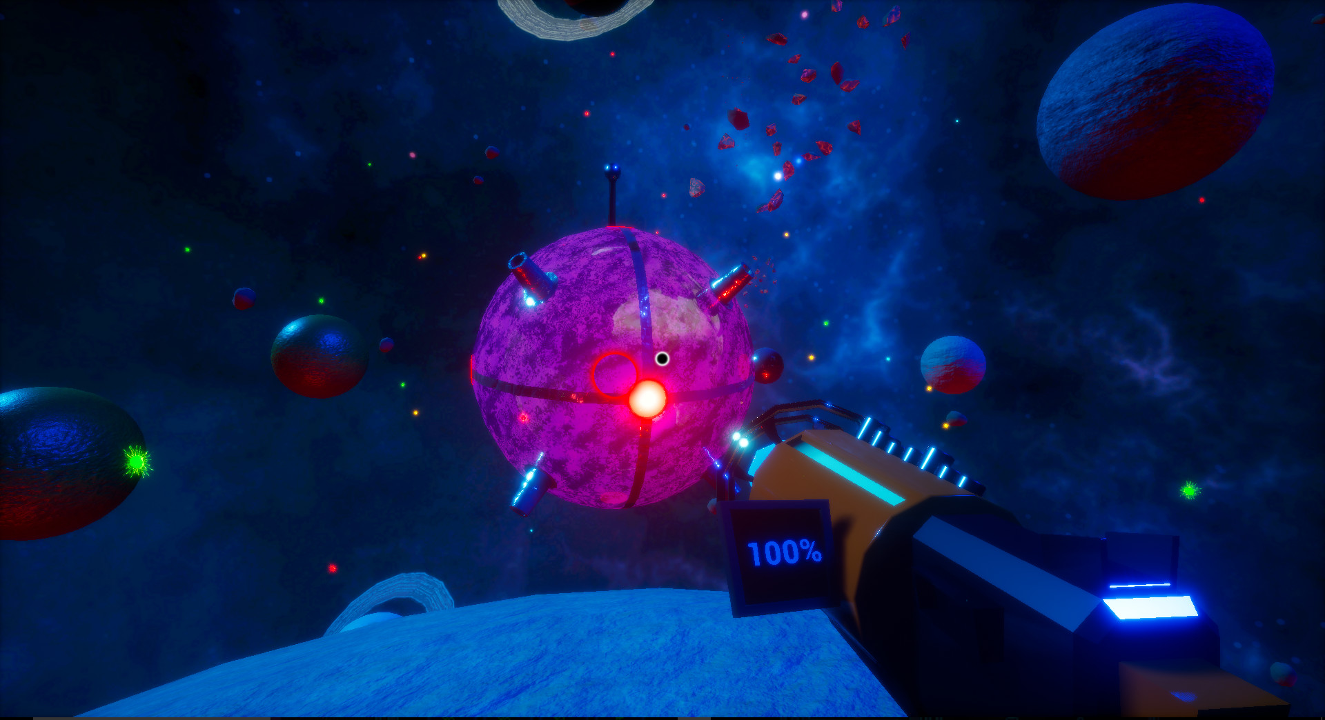 Ingame screenshot of the main boss taken from the firstperson player perspective