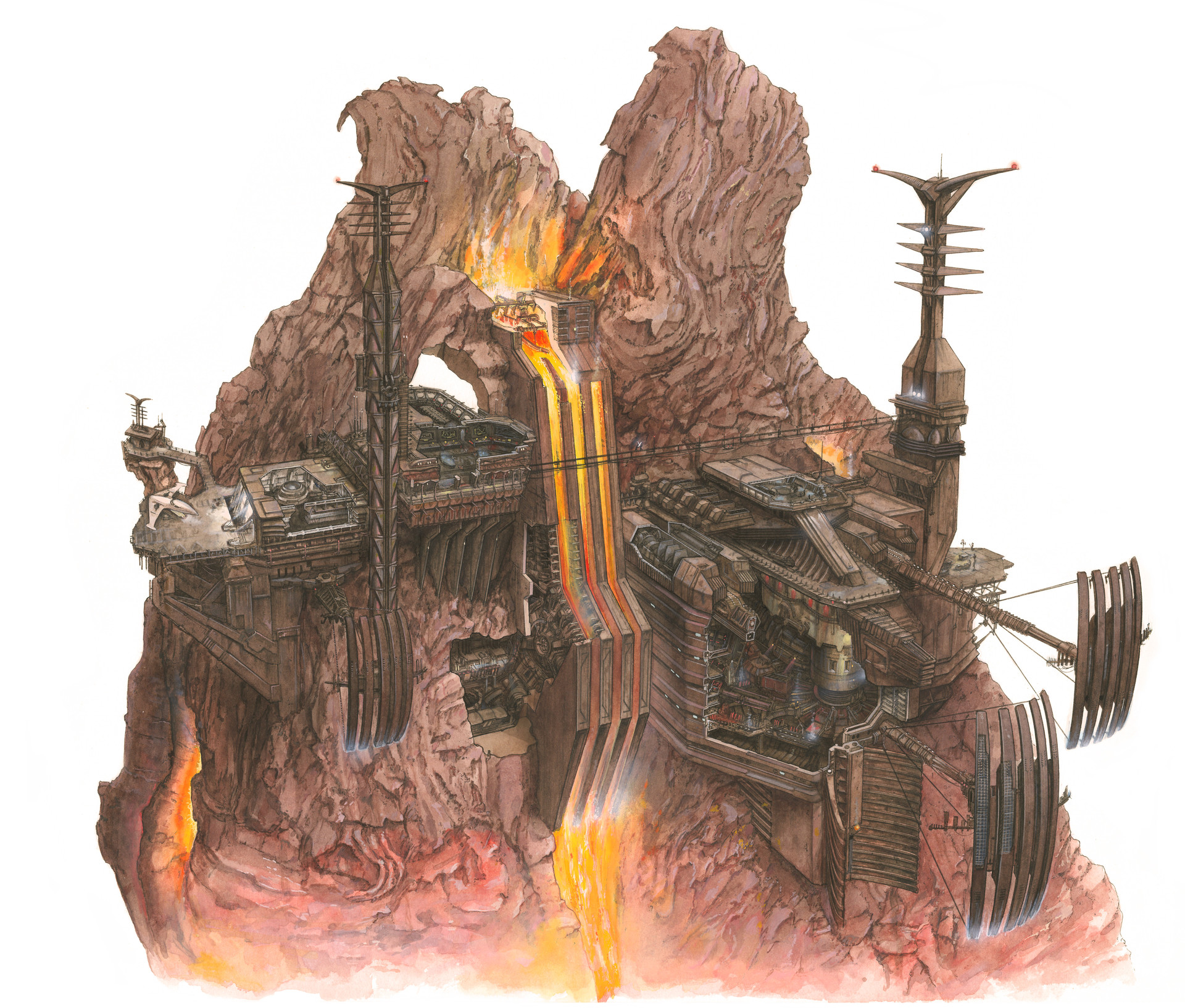 Richard Chasemore Painted Star Wars Locations Part 1