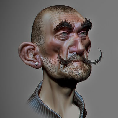 Pierre benjamin new shaved dude sculpt 002