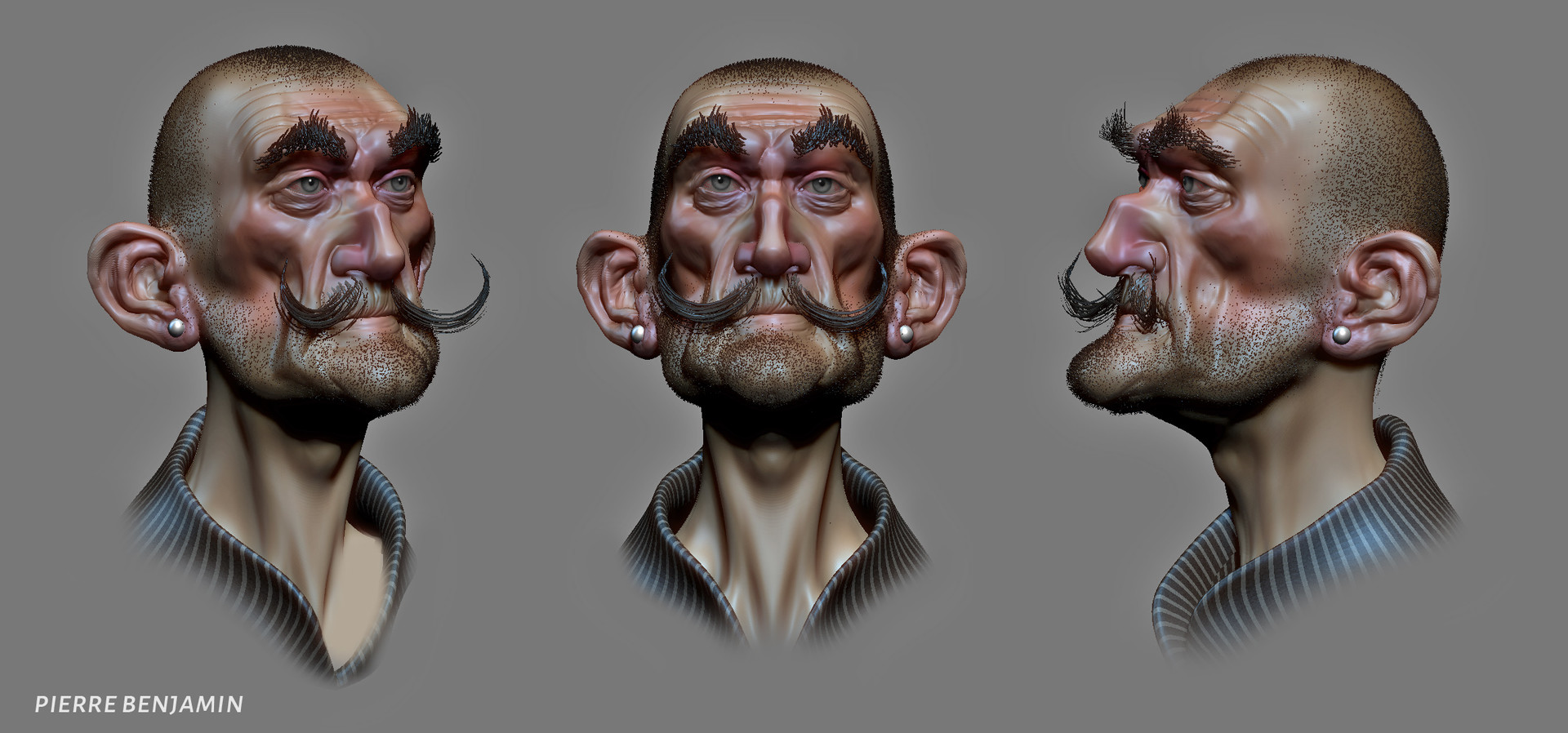 Pierre benjamin new shaved dude sculpt