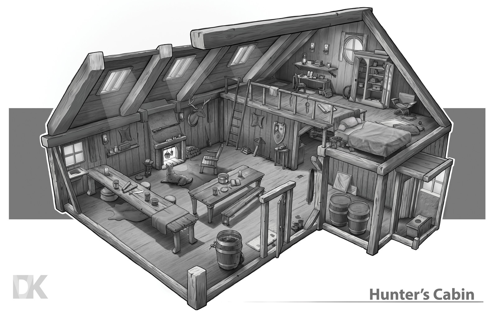 3/4 Hunter Cabin Design.