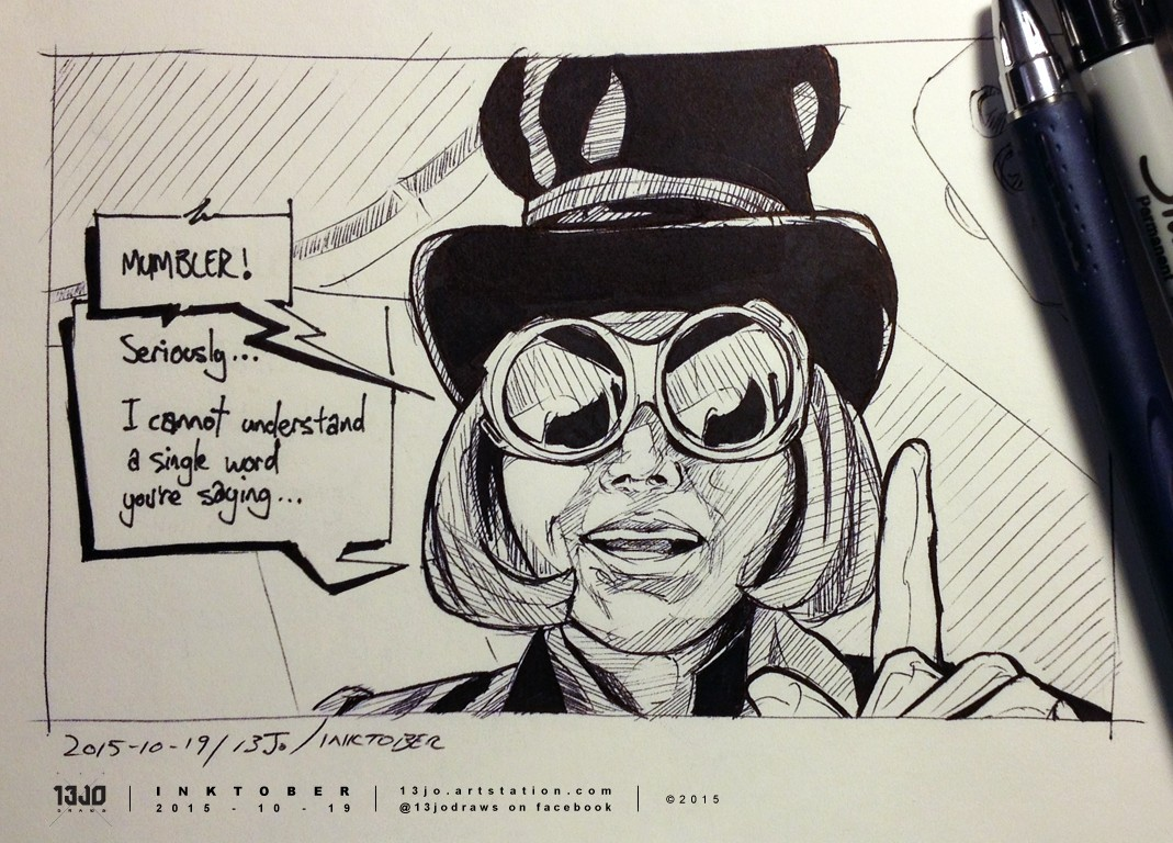 Seriously...  Fan art of Willy Wonka from Charlie And The Chocolate Factory.