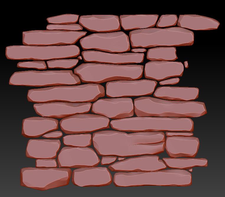 ArtStation - Stylized Stone Wall Texture, Daniel Diaz