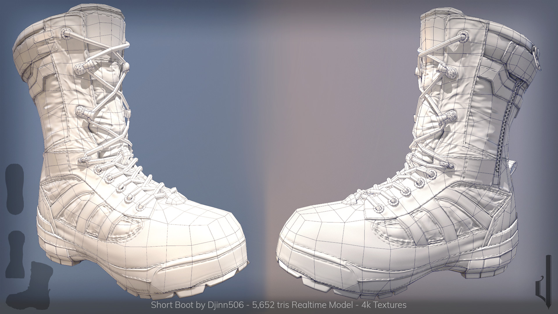 Djinn androsgyne shortboot wires
