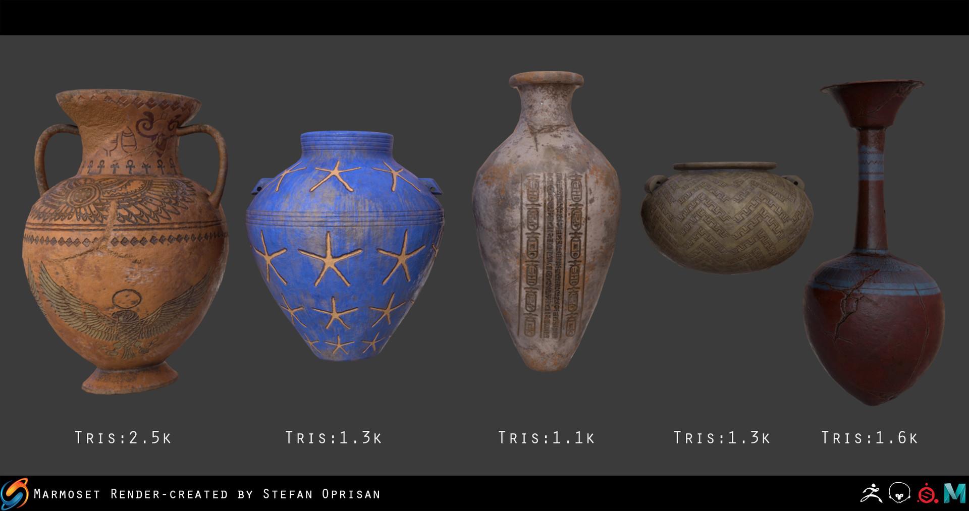 Stefan oprisan vases