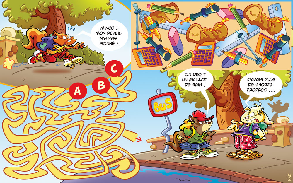"""game made for """" Le Journal de Mickey / Disney Hachette Presse """""""