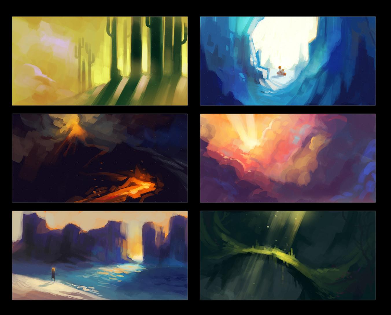 Monica ion 6 colour studies