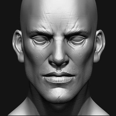 Hong chan lim male face study