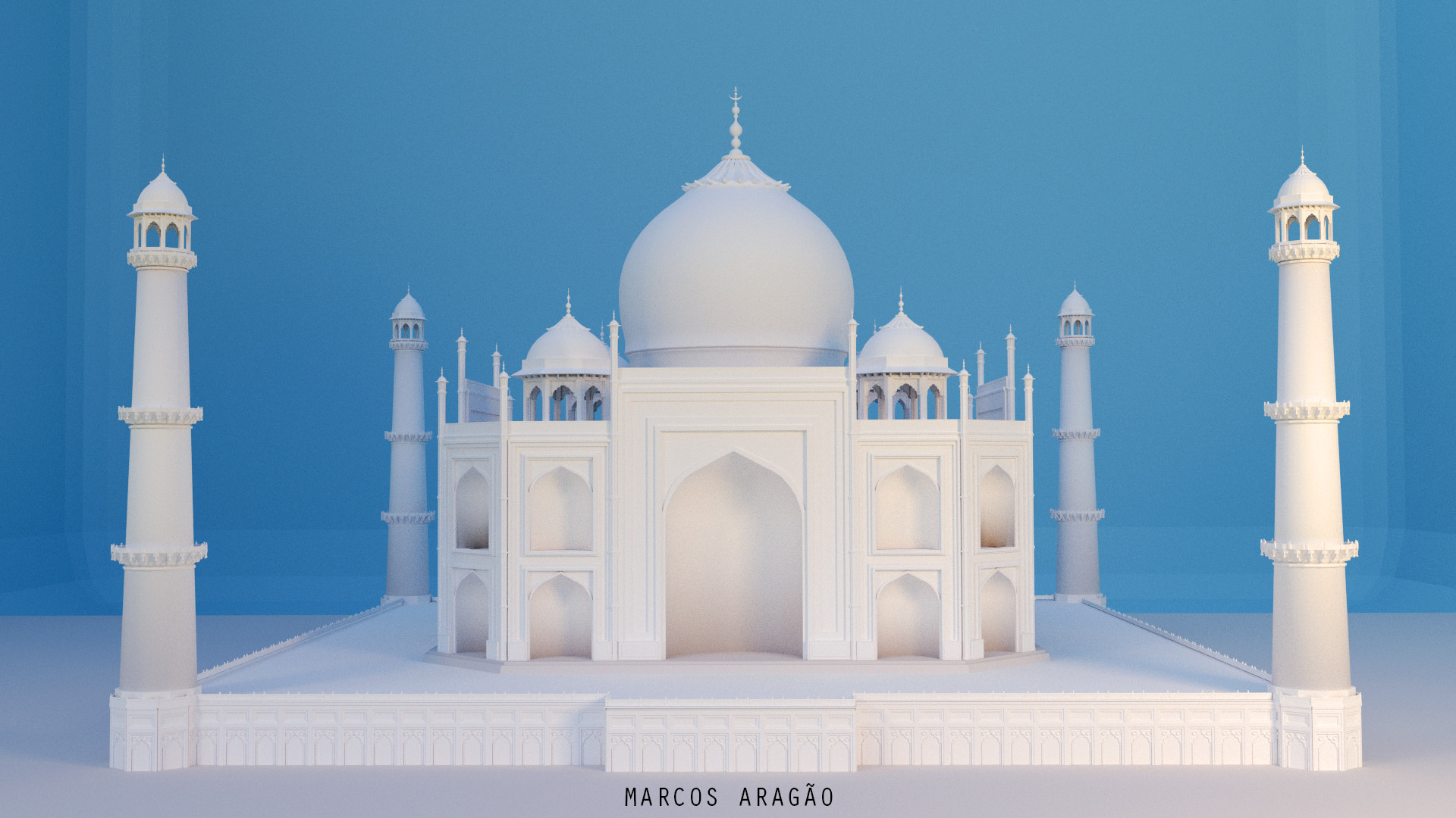 Taj Mahal 3d Image: Taj Mahal In Blender 3D, Marcos Aragão