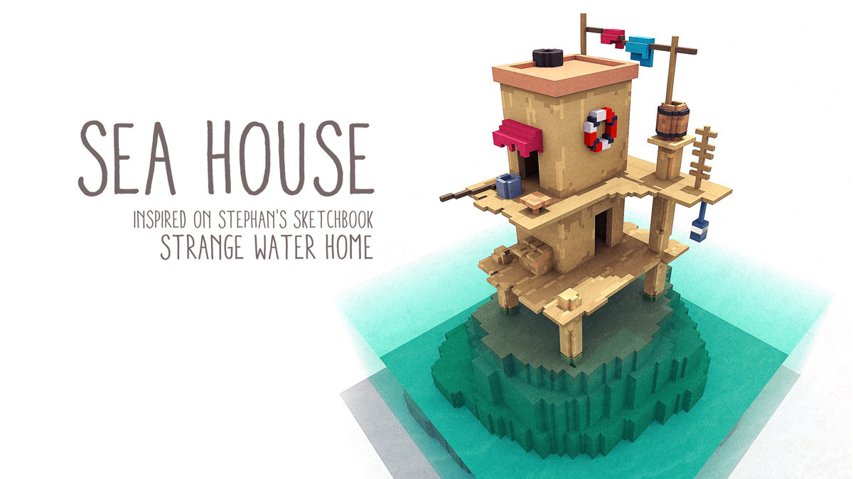 ArtStation - Sea House, William Santacruz