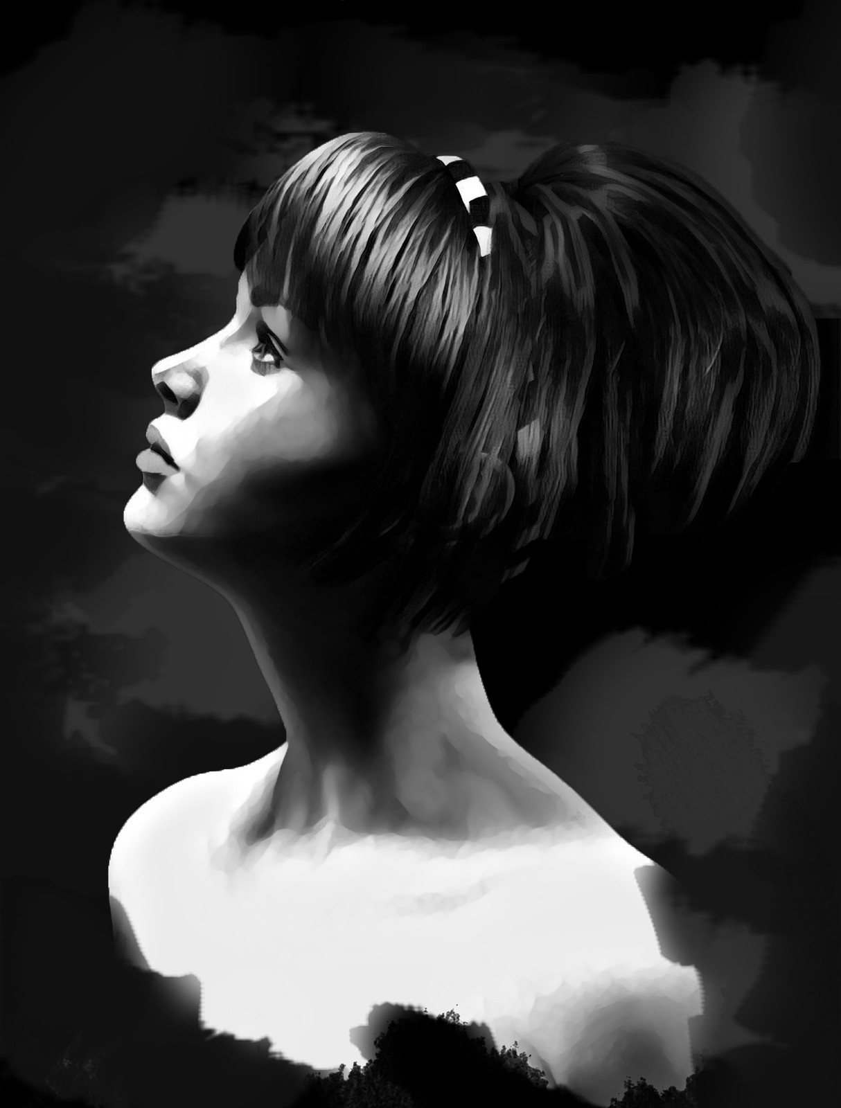 Black and White Portrait Study