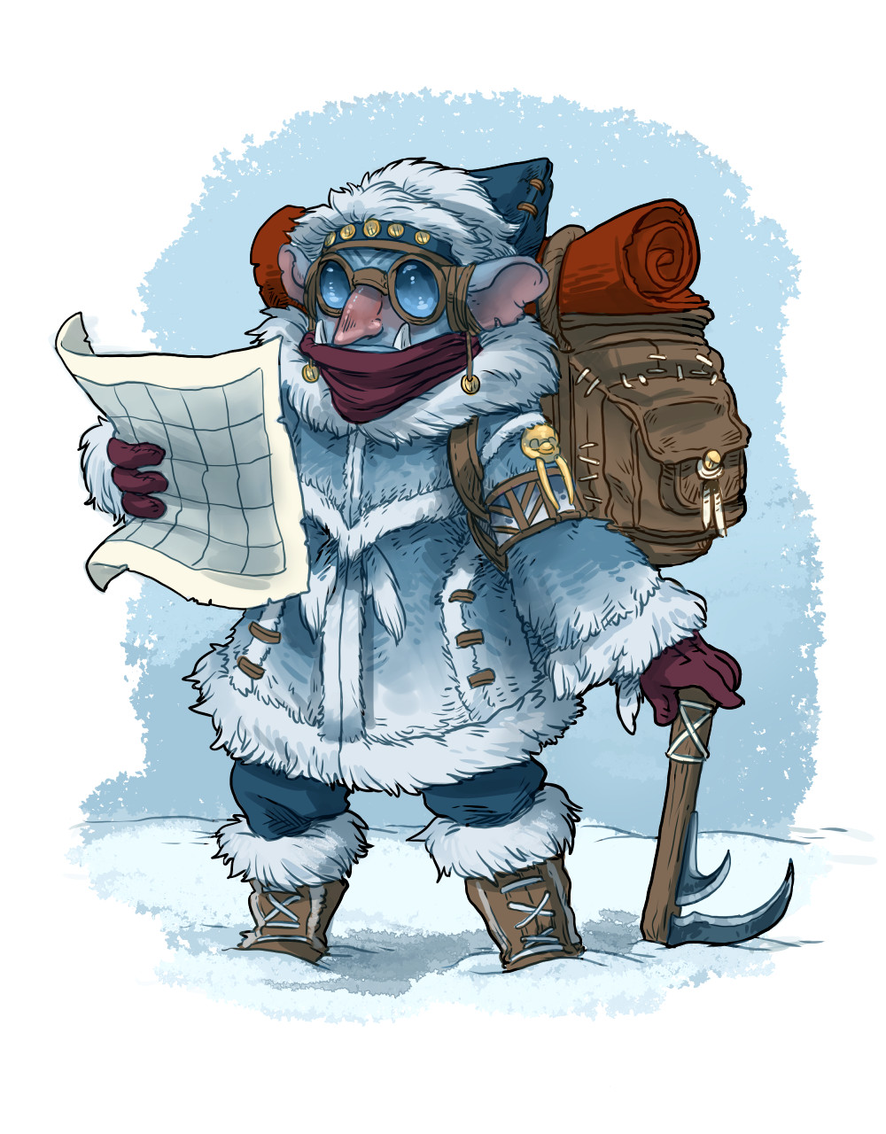 Arctic goblin explorer