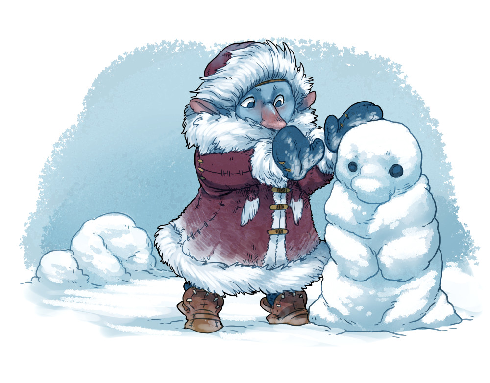 Arctic goblin child
