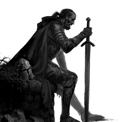 Sam carr grieving knight artstation