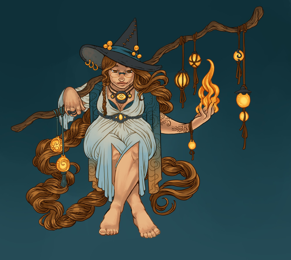 Witch Week 2017 - flat colours