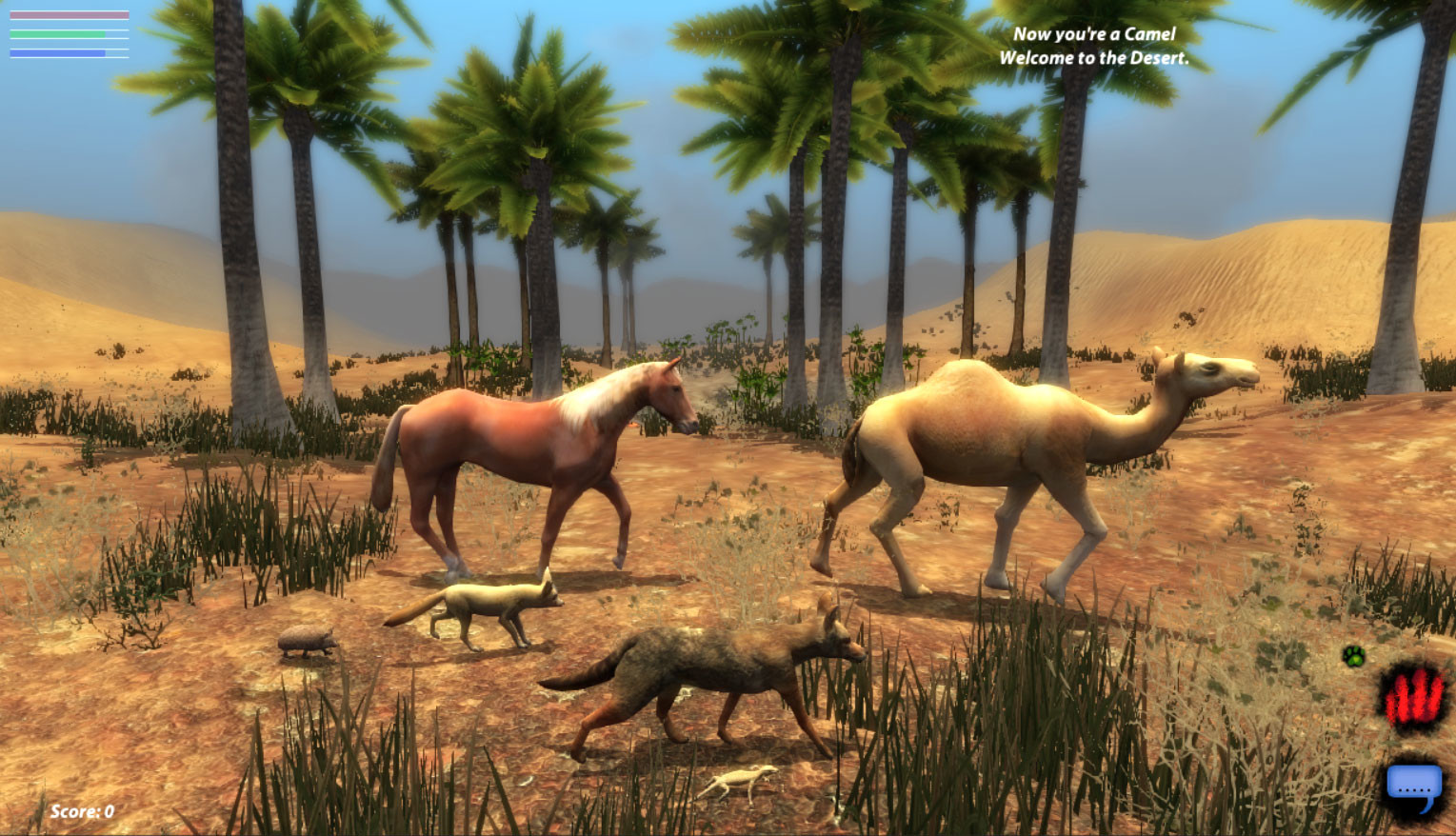 Image of: Wolf The Desert This Is Again Realtime The Horse Was Sculpted But The Rest Were Just Polygon Modeled As They Were Done Before It Was An Option For Us Artstation Artstation Lif an Animal Mmo James Flowerdew