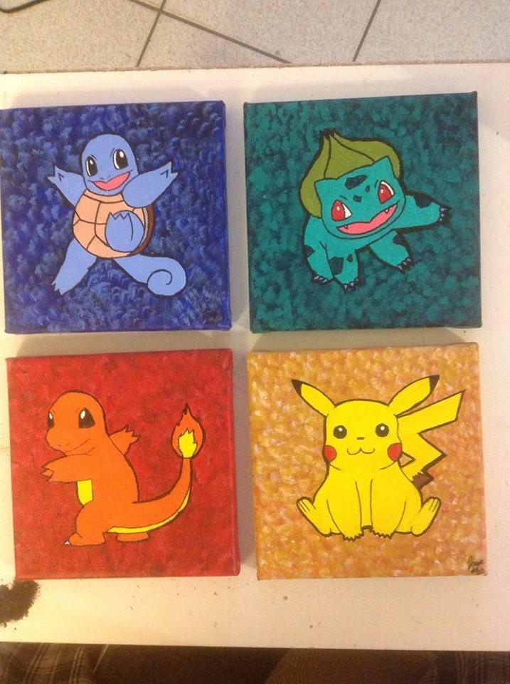 `Pokémon` 6x6 canvases