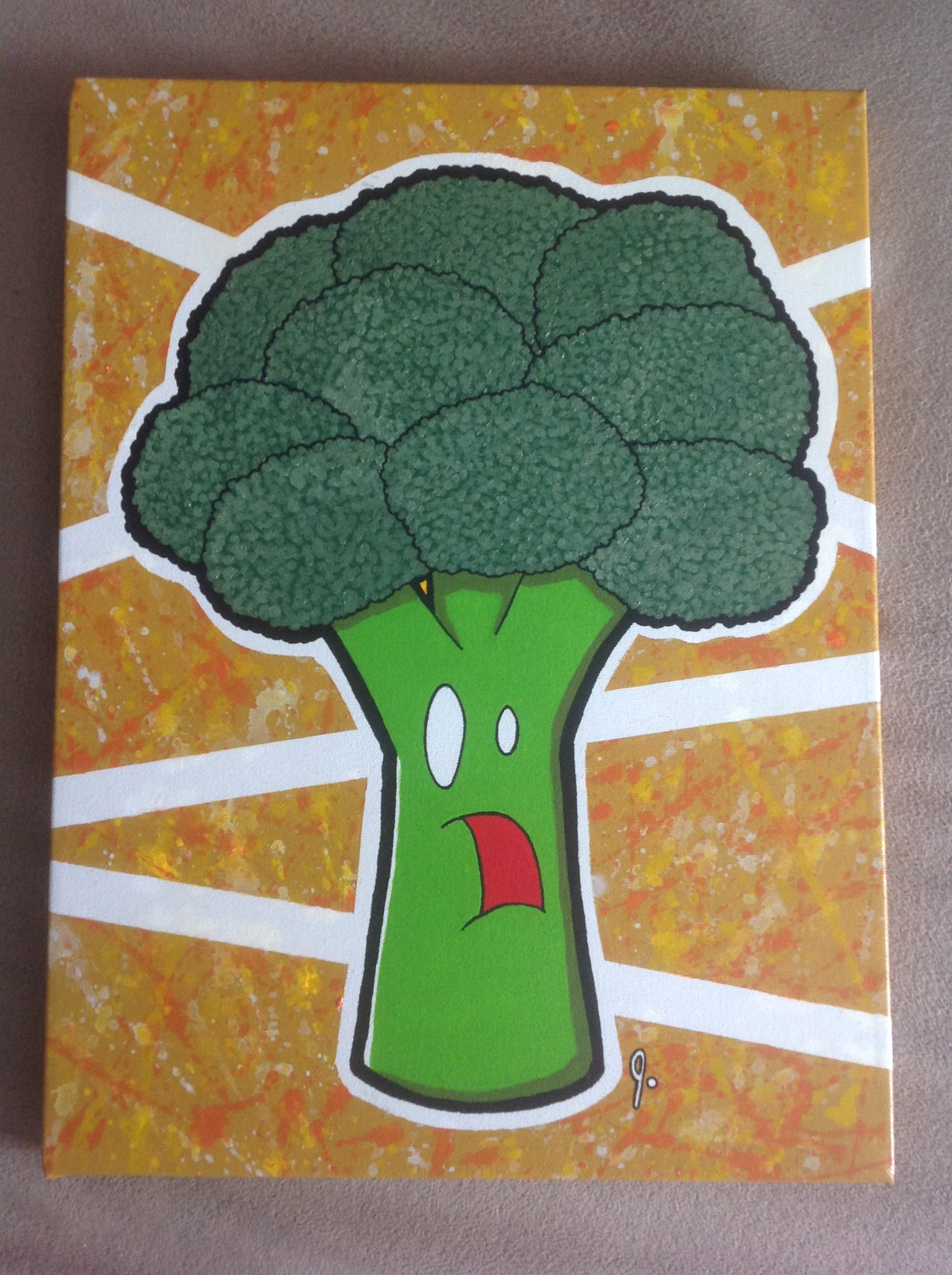 'Bewildered Broccoli' 12x16 canvas Status: For Sale