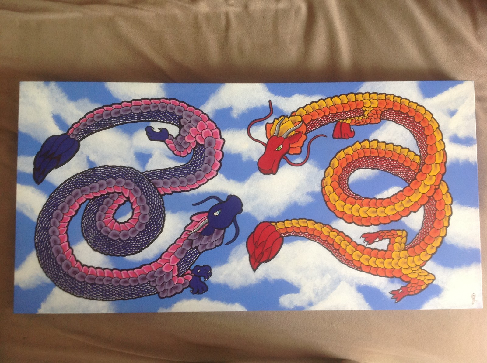 'Snapdragons' 18x36 canvas Status: For Sale