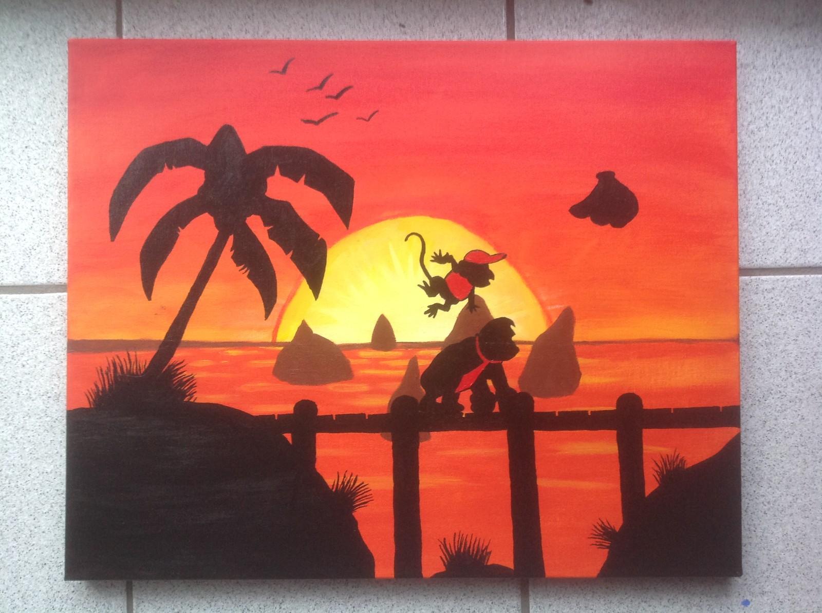 `Sunset Shore` 16x20 canvas Status: Sold!