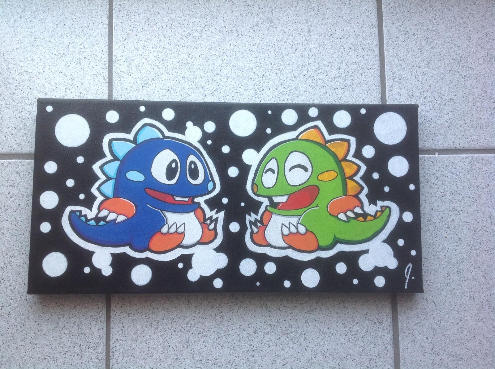 `Bubble Bobble`  8x16 canvas Status: Sold!