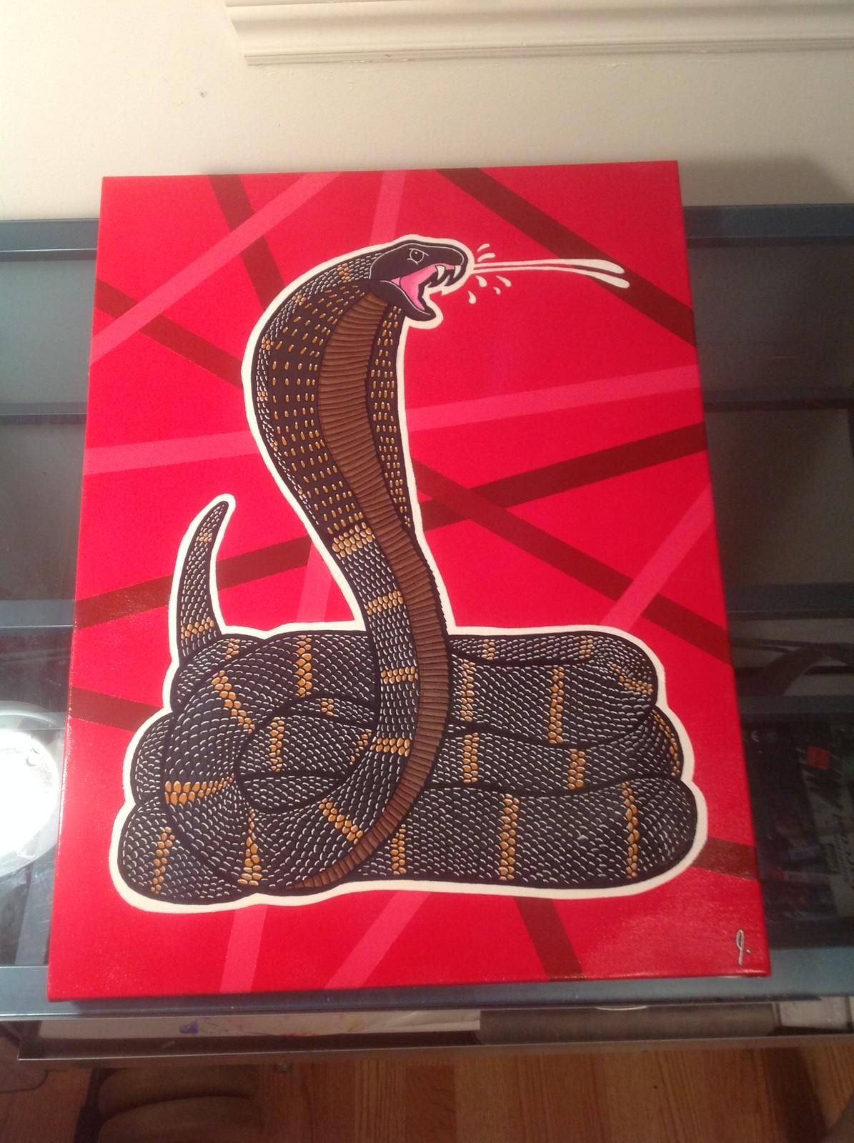 'Spitting Cobra' 18 x 24 canvas  Status: For Sale