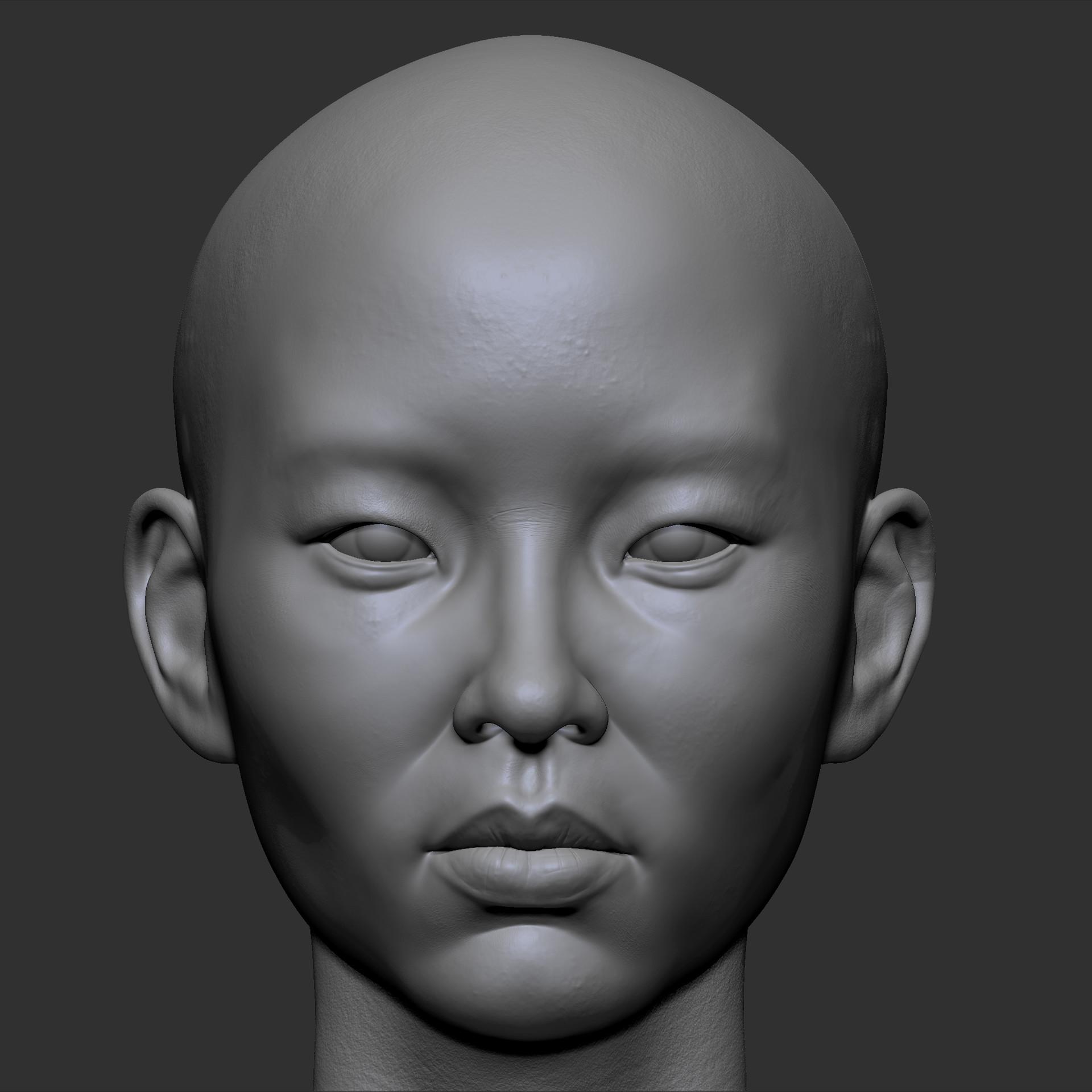 3D Asian Girl asian girl 3d artjakub chechelski – zbrushtuts