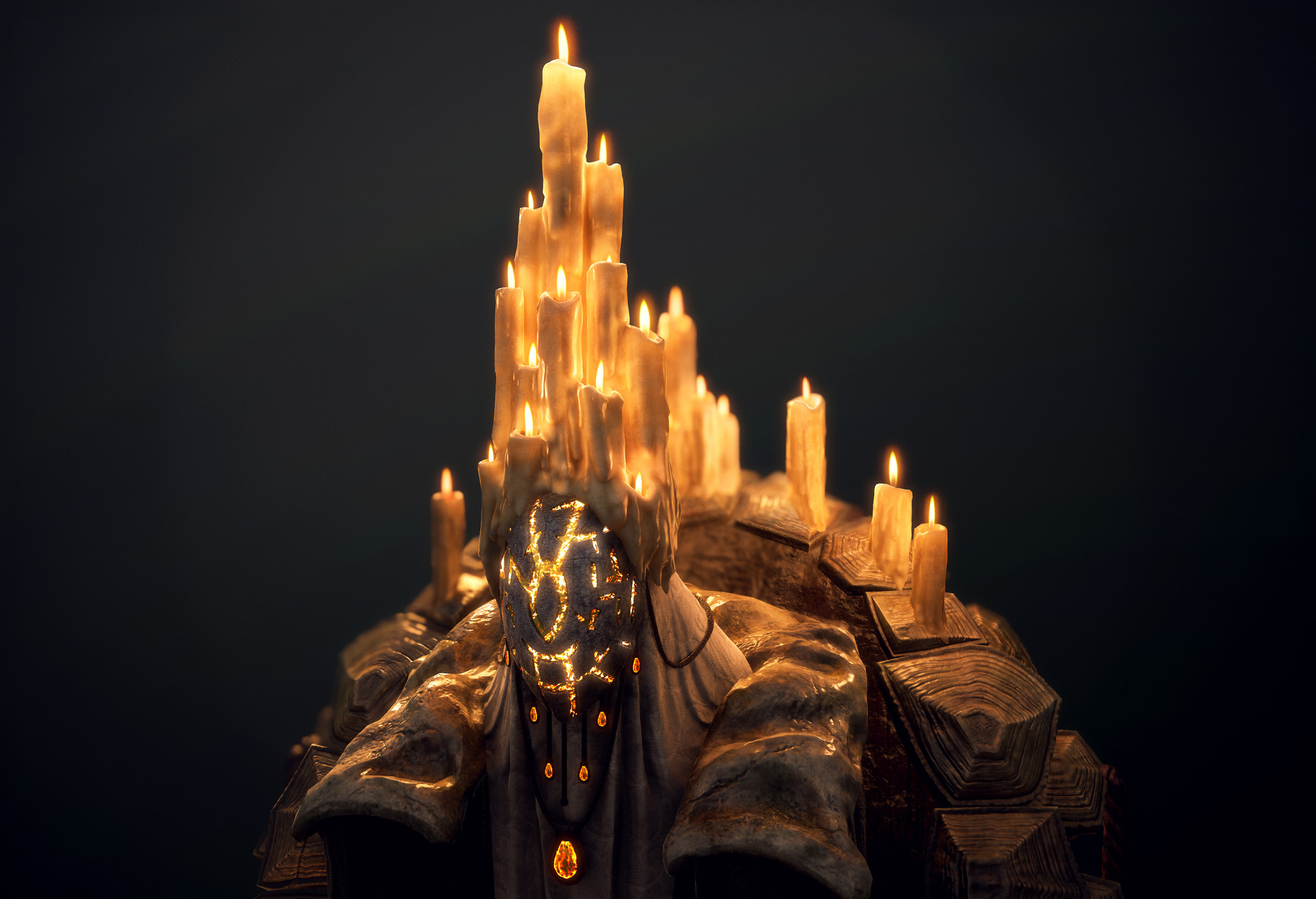 Render with just the candle lights on