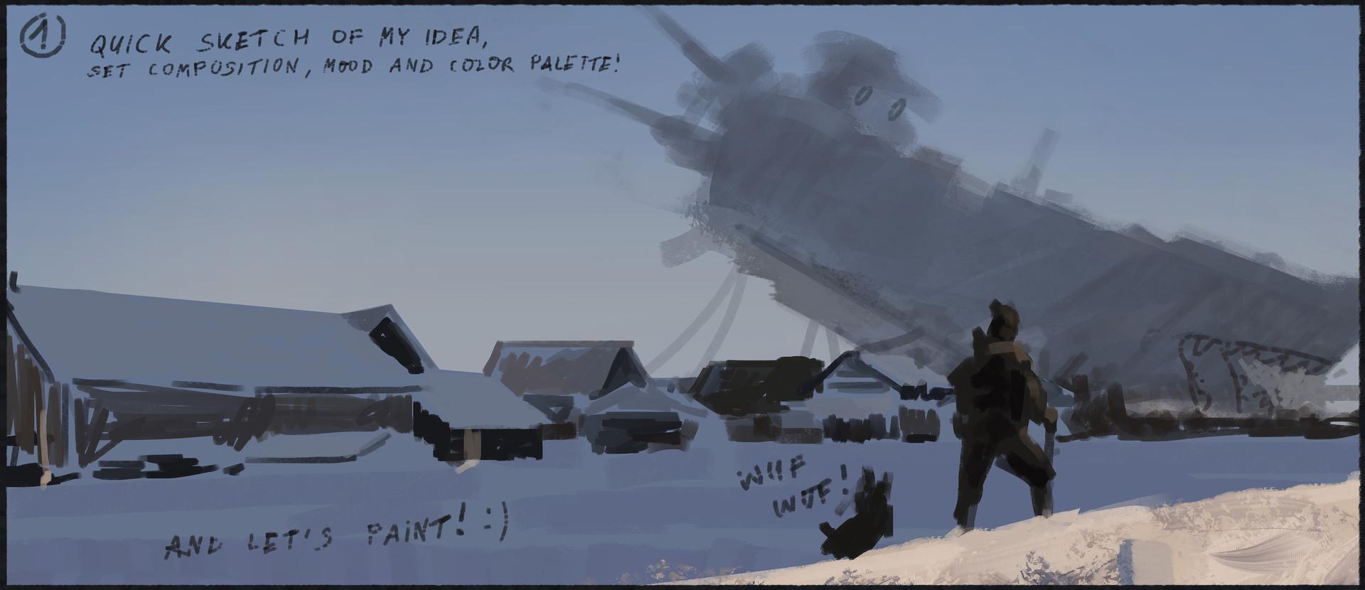 Jakub rozalski 1920 emergency landing process01