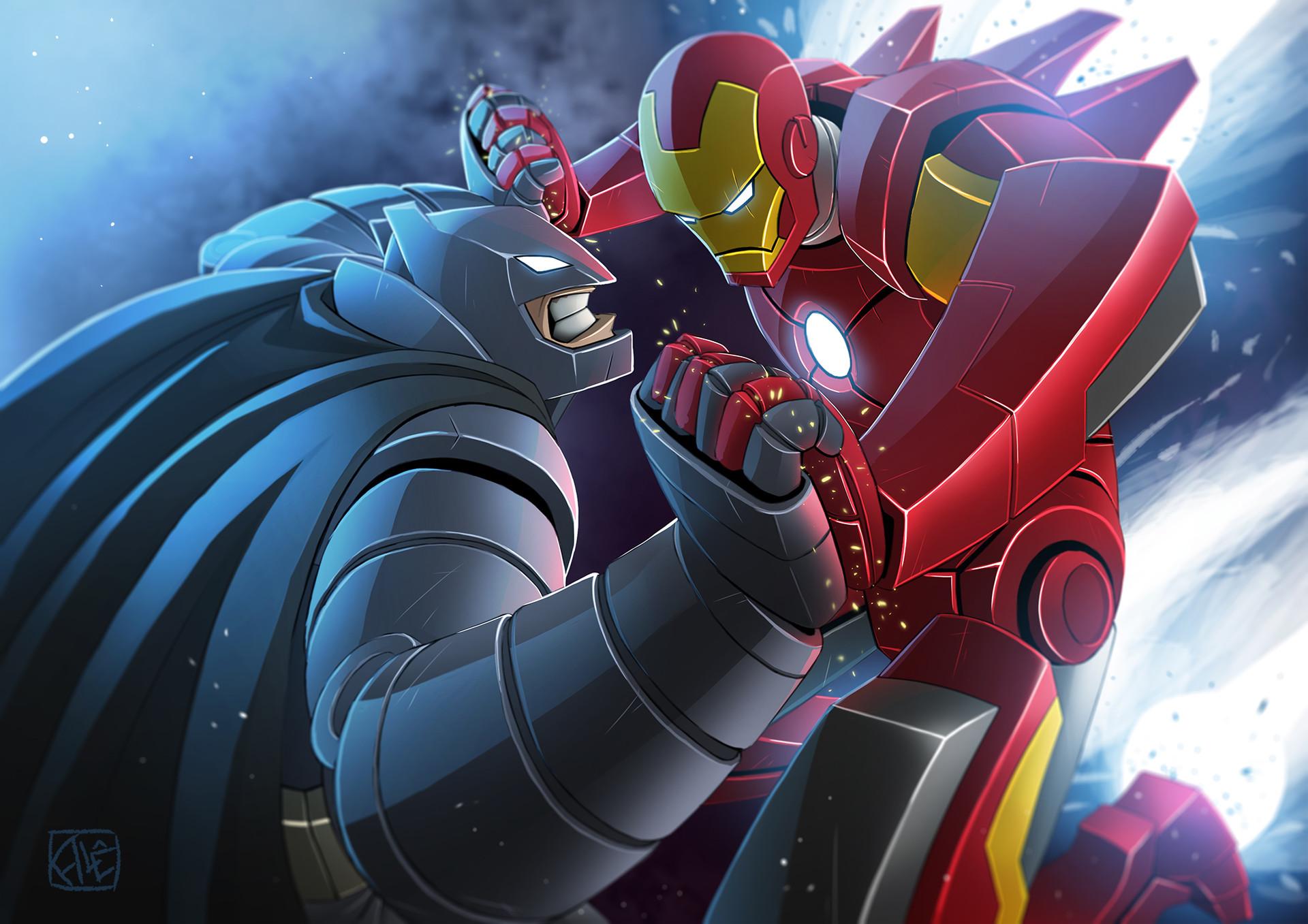 ArtStation - Batman vs Ironman, Alessandro Almeida