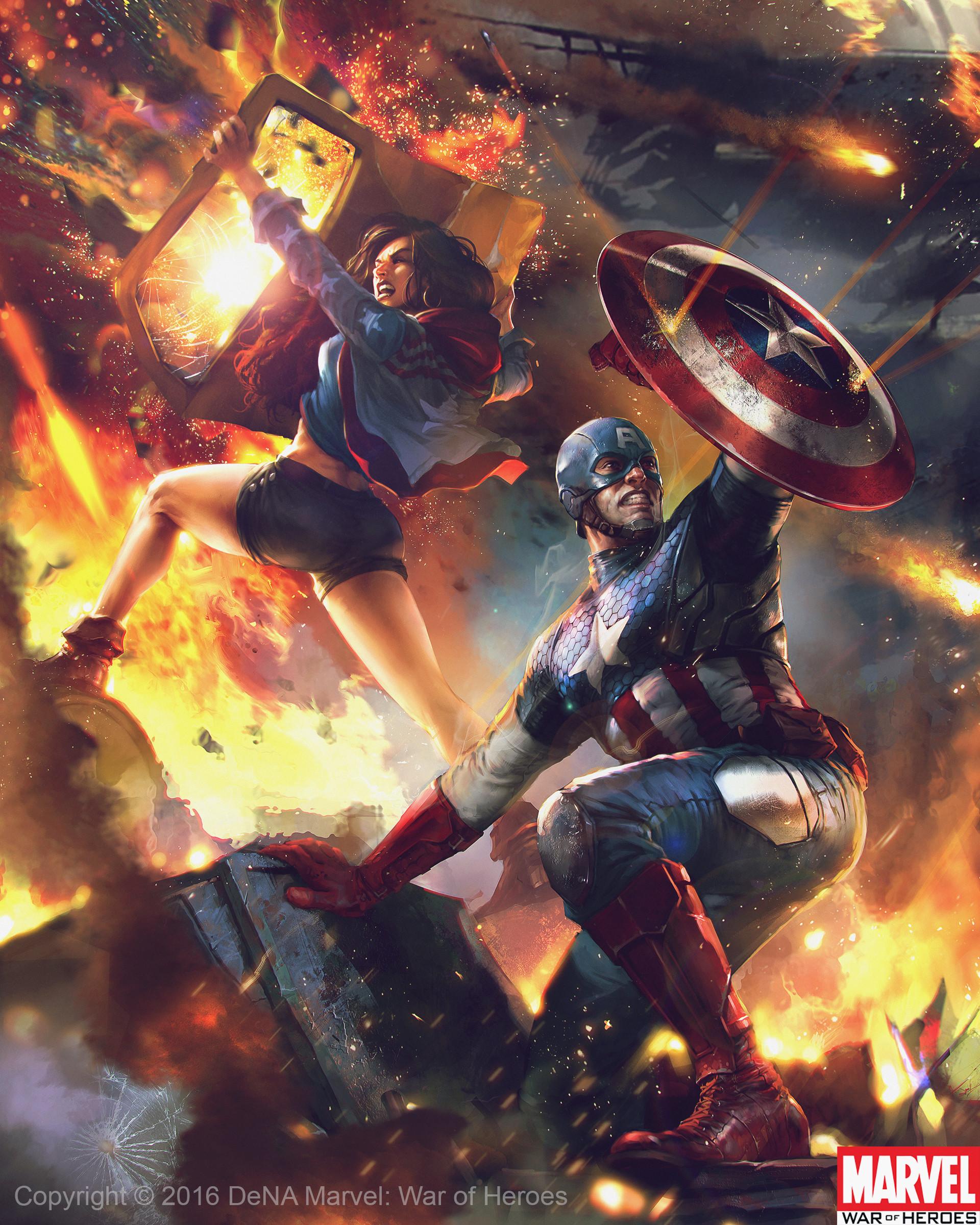 Denys tsiperko captainamerica and americachavez evo2 1