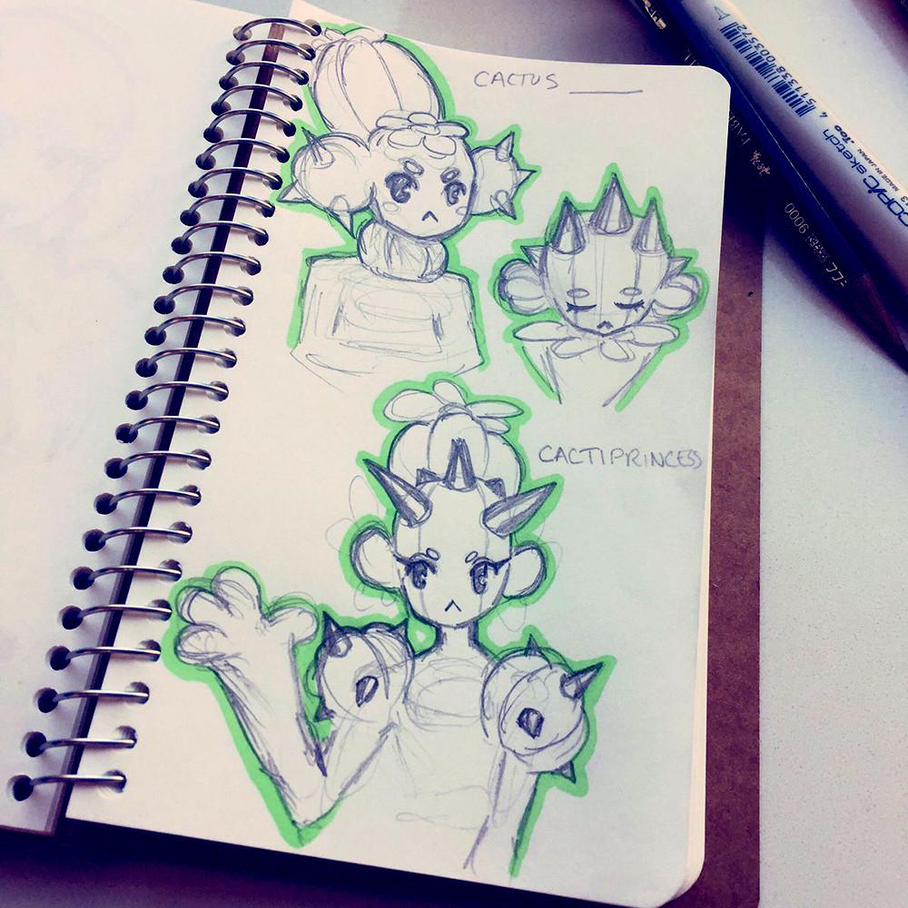 Day 1 - Cactus 🌵 Some ideas for a cactus princess