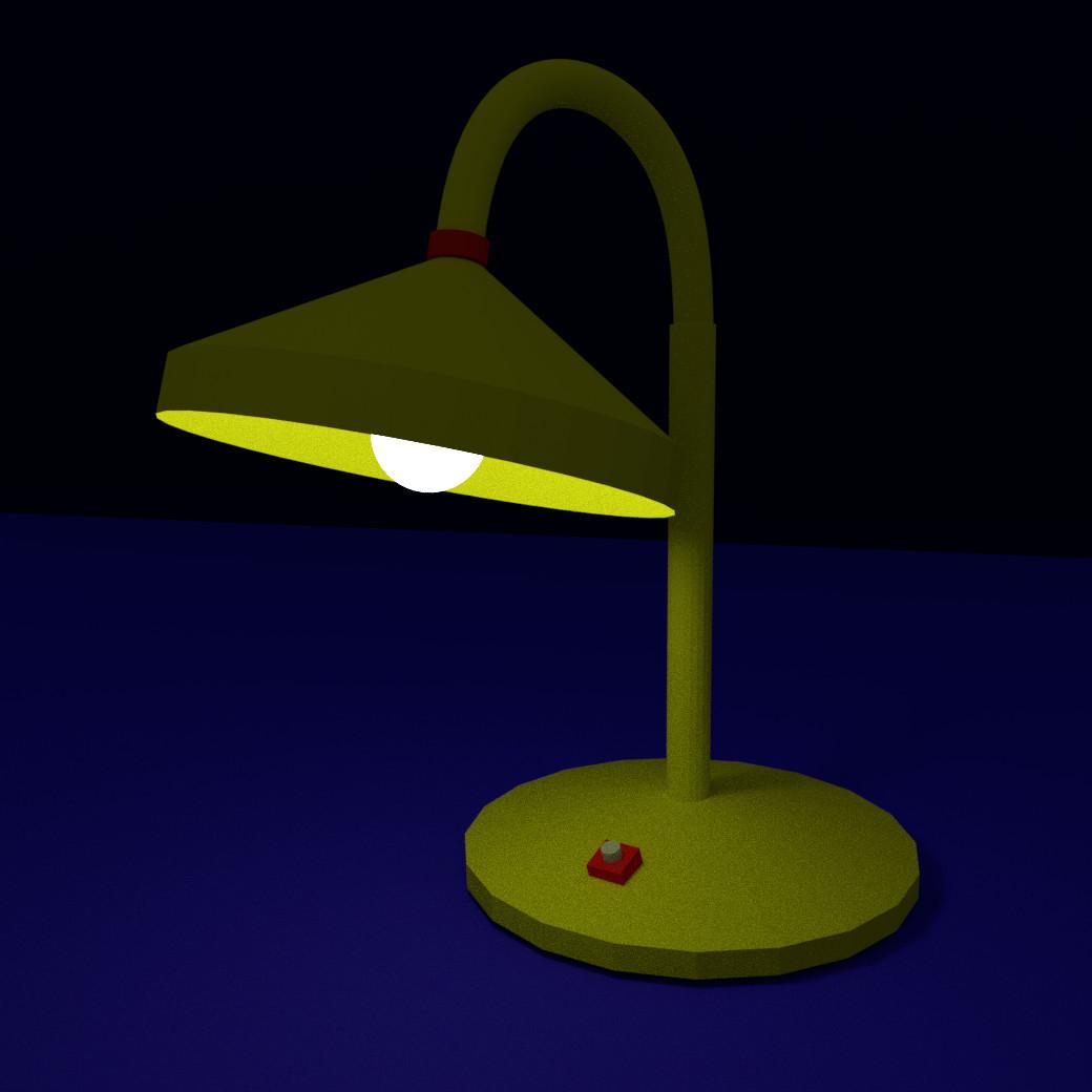 3d Lamp On