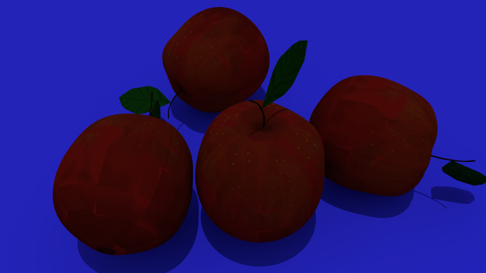 3d Hand Painted Apples