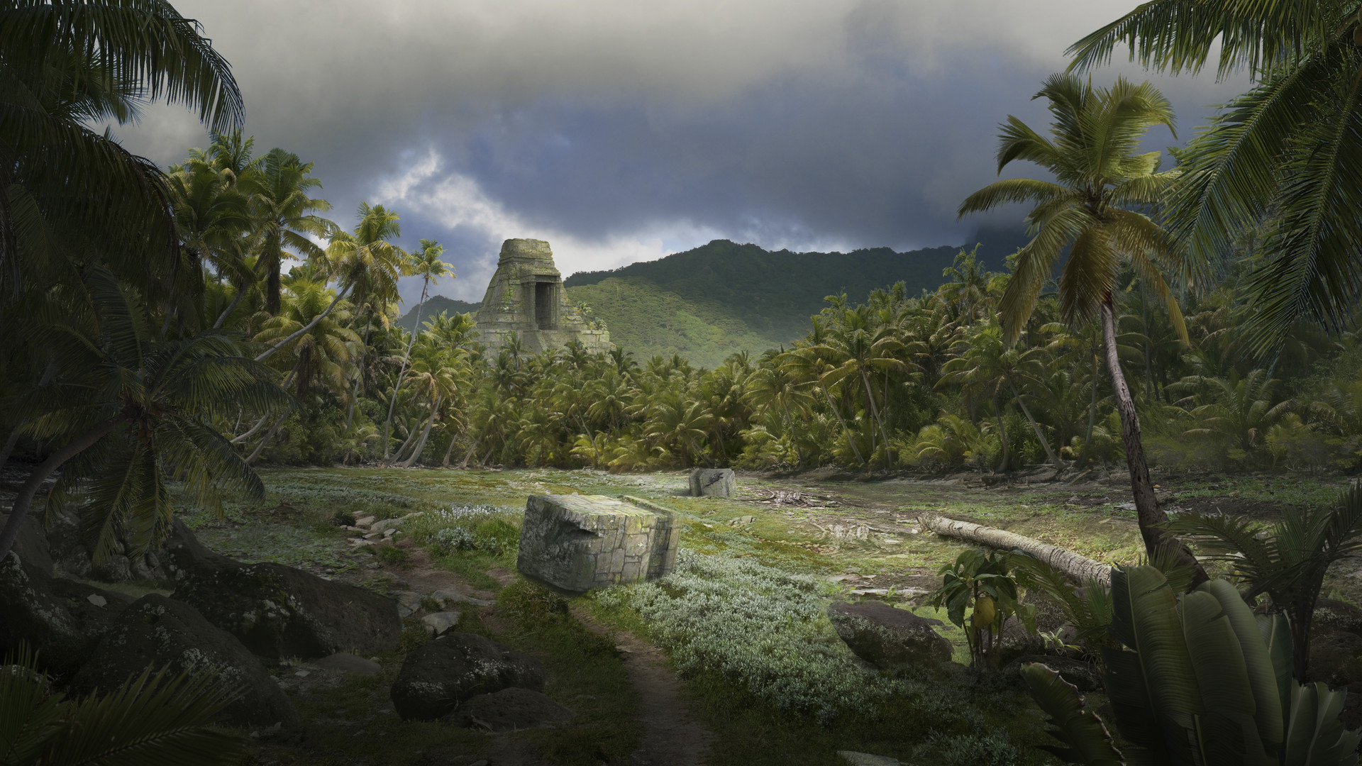 Nicolas zuriaga ancient civilizations lost found for Space matte painting