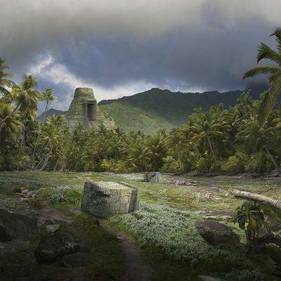 Nicolas zuriaga matte painting playa isla2