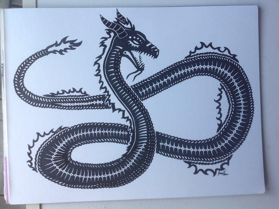 'Tribal Asian Dragon'