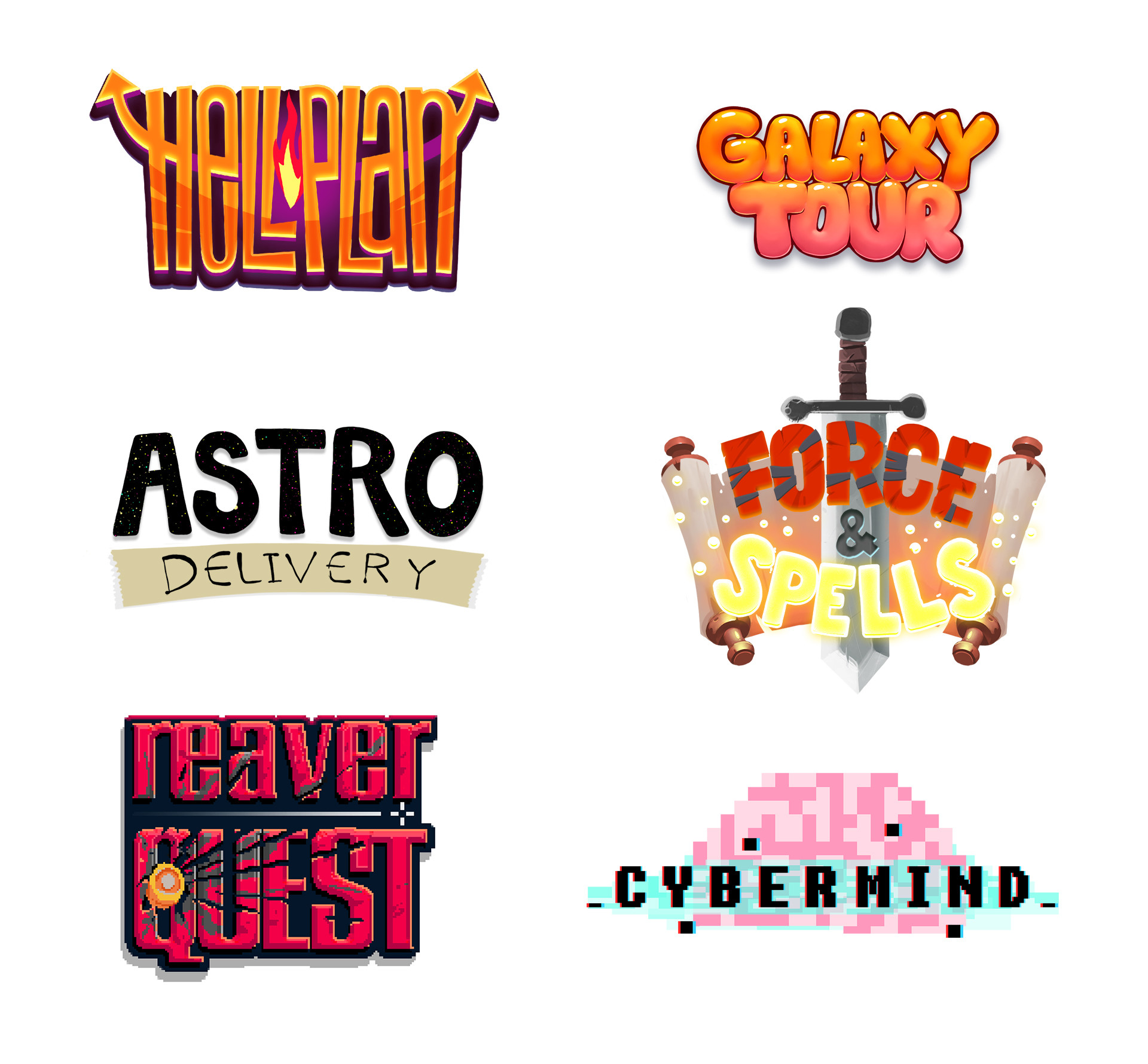 Mobile Game Logo Designs