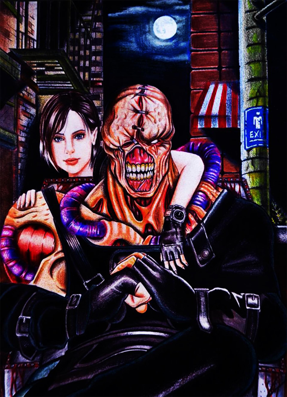 Artstation Resident Evil 3 Nemesis Fanart Ignacio Zurita