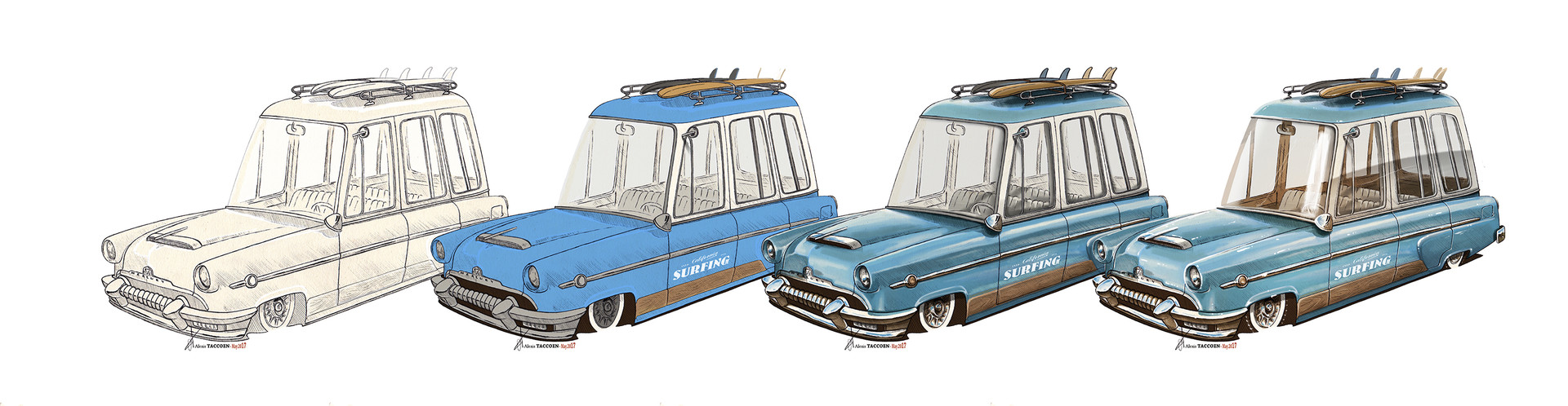 Alexis taccoen surf wagon mercury 54 wip low