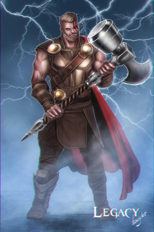 Artstation Thor Ragnarok With Ultimate Mj 246 Lnir Hammer