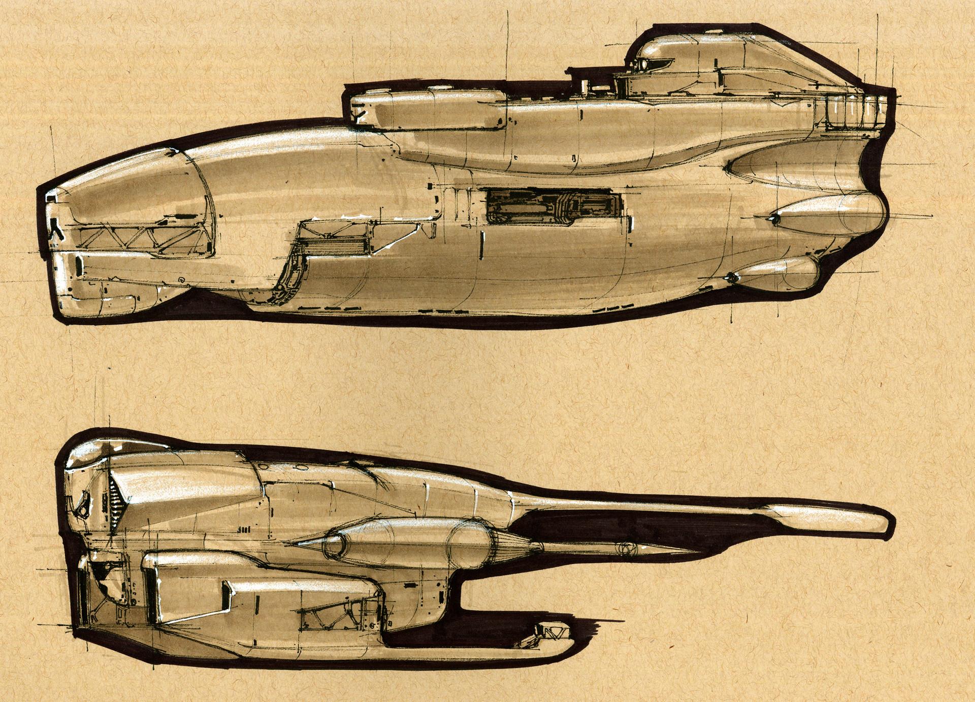 longque chen space ship sketches