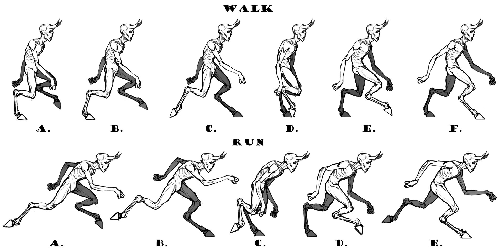 Run/Walk Animation Sprites