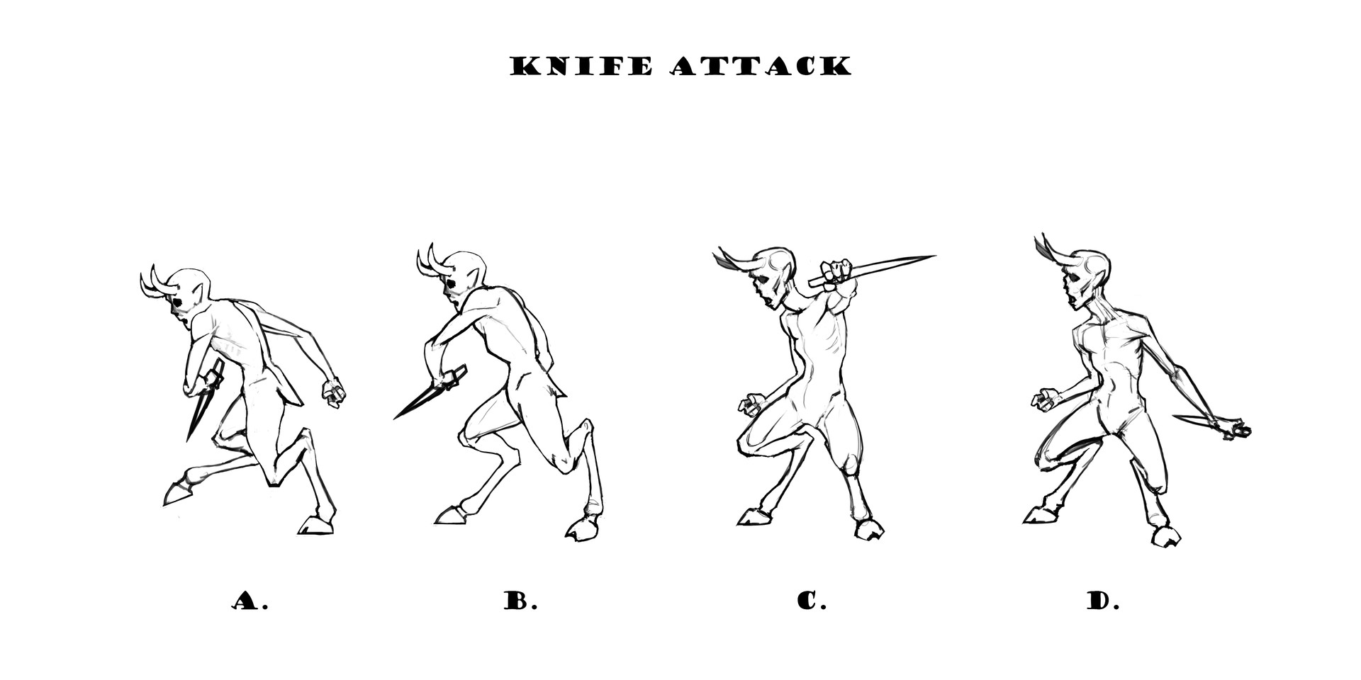 Knife Attack Animation Sprites