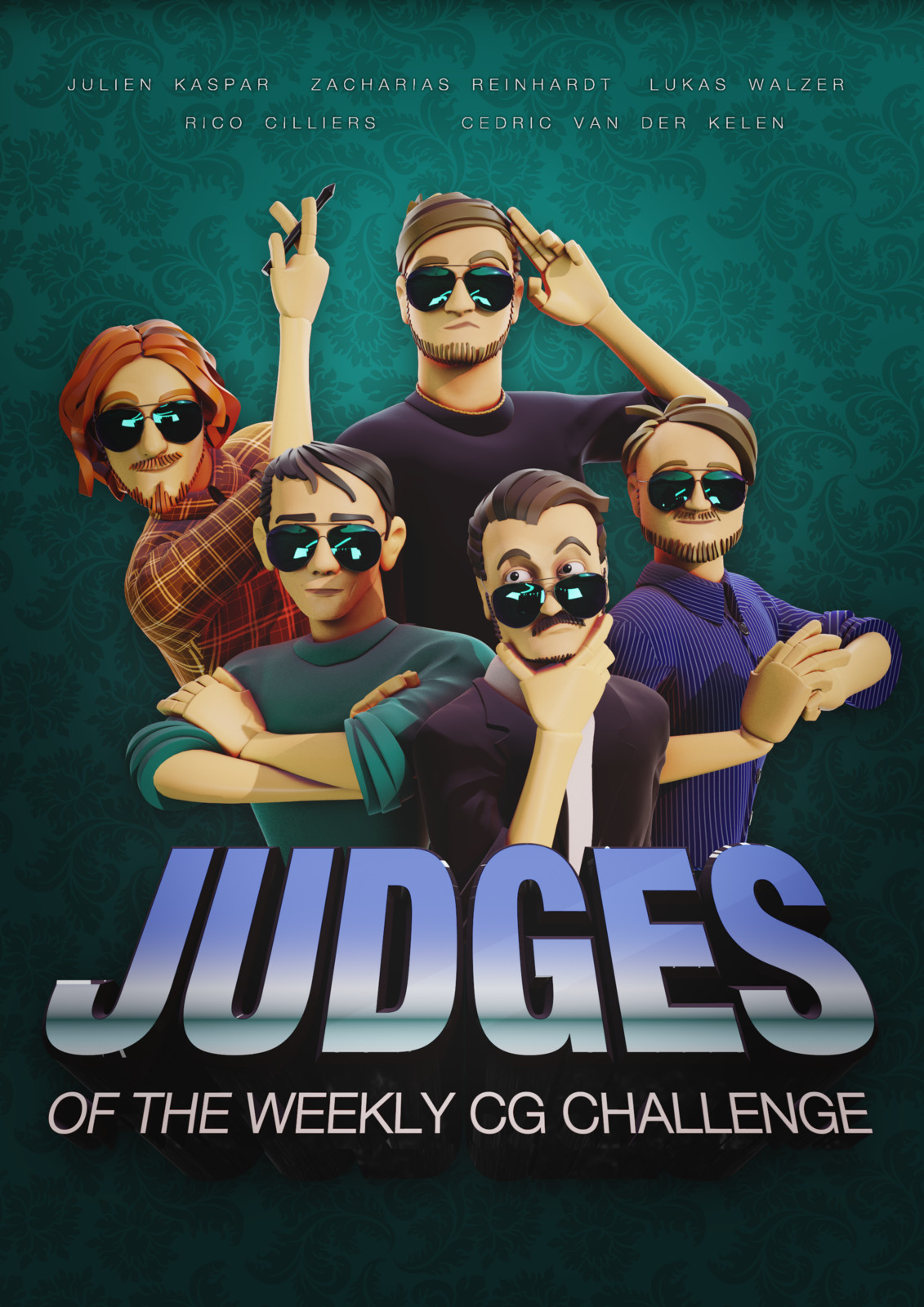 Portrait of the Judges of Weekly CG Challenge