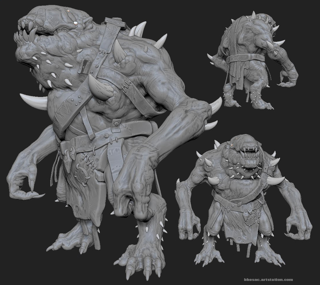 Maw (sculpt) - mat reveals normal info