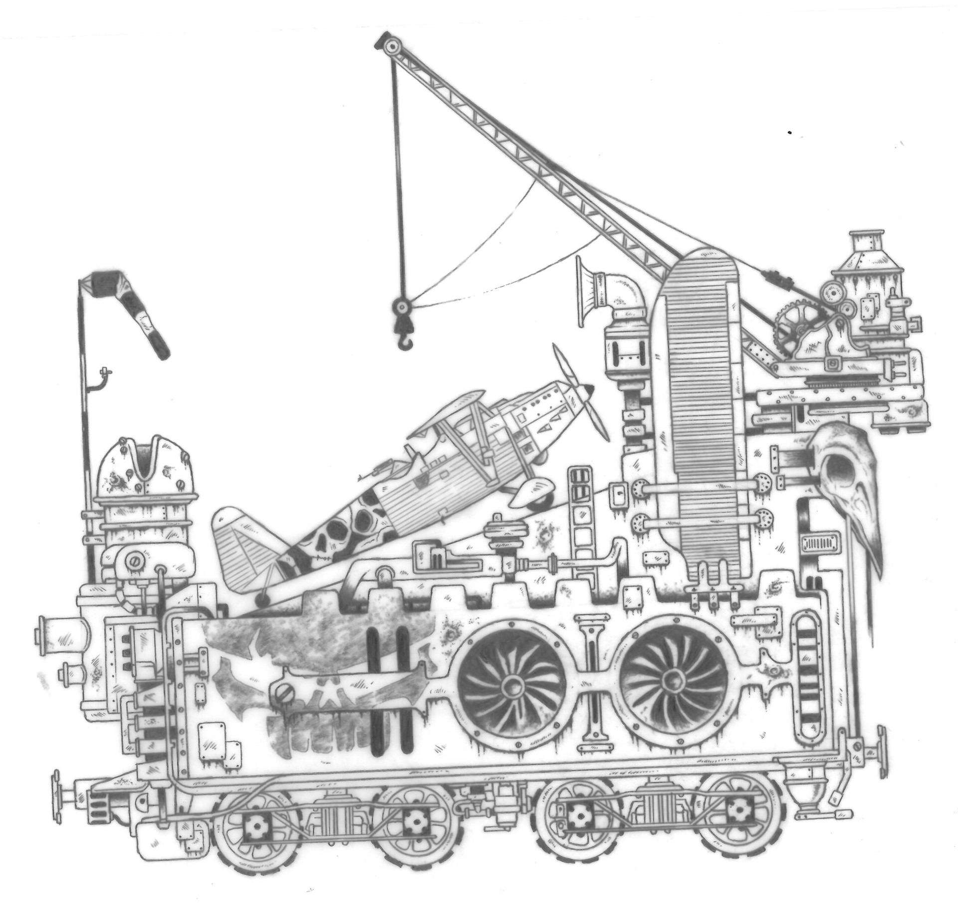 Sven Grabow Detailed Concept Work Of Land Train For Alternative Ad Mad Max Engine Diagram Spnog0116102807030